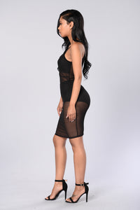 Pin Up Dress - Black