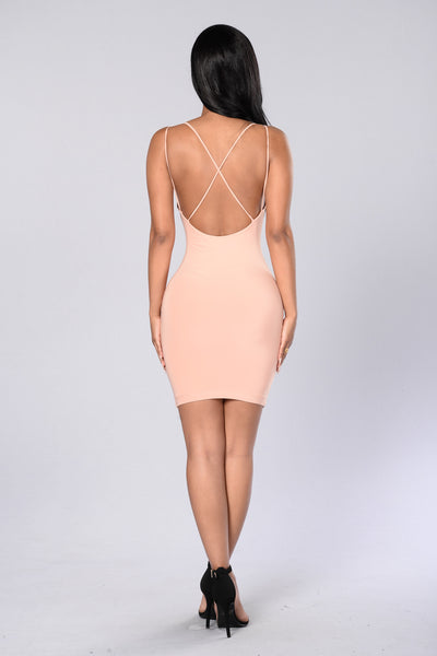 Come Back Again Mini Dress - Salmon