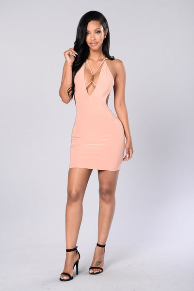 Marquee Dress - Salmon