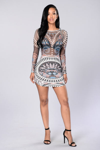 Don't Mesh With Me Dress - Black