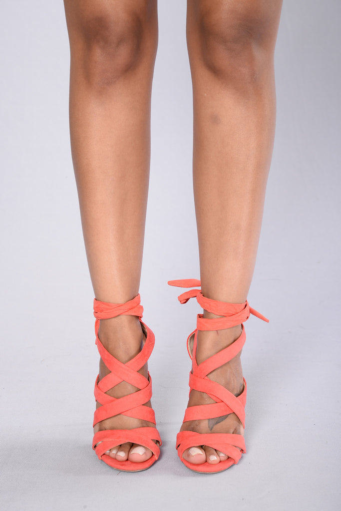 Wrapped Up Heel - Coral