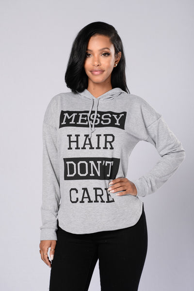 Messy Hair Day Hoodie