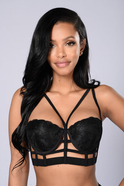 I Wanna Be Your Lover Bra - Black