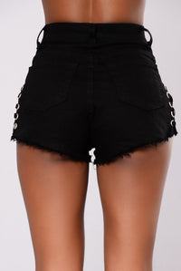 Wanda Lace Up Short - Black
