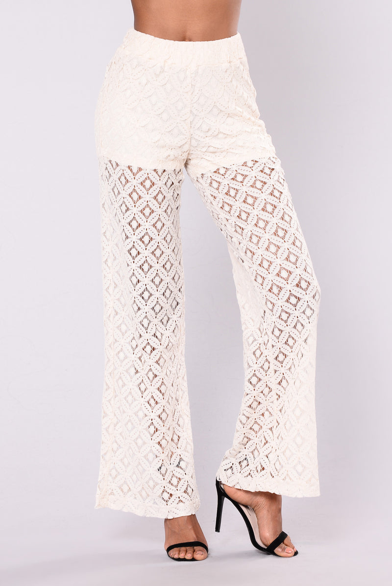 Ramona Lace Pants - Natural
