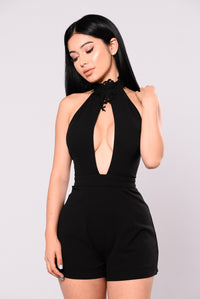 Love How You Lie Romper - Black