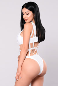 Stationed By The Pool Monokini - White