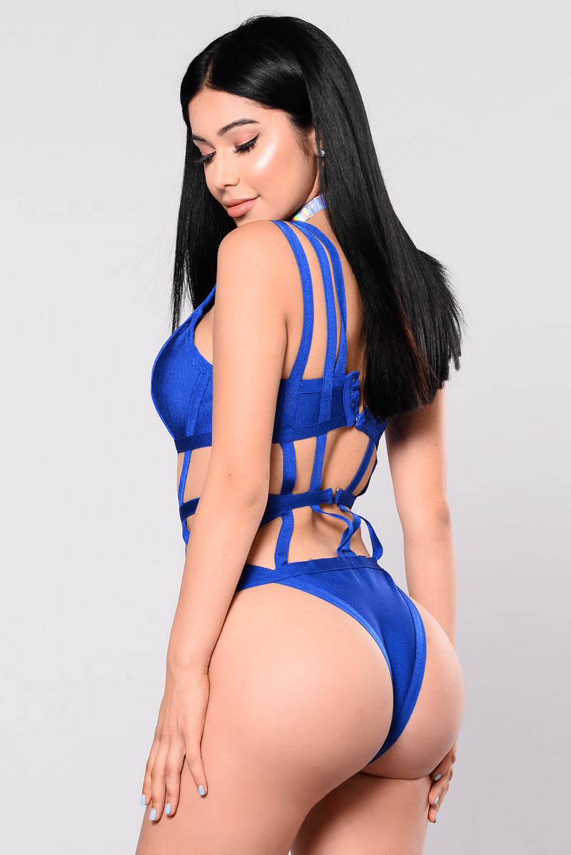 Stationed By The Pool Monokini - Royal
