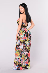 Convinced Dress - Black Floral