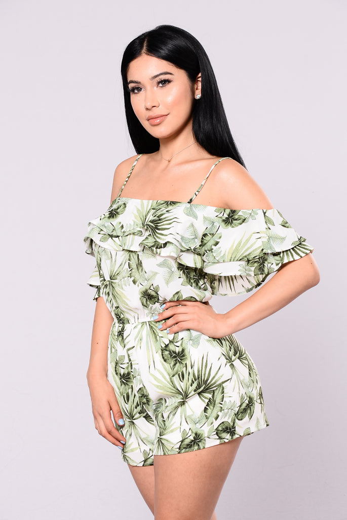 Suite Life Of A Fashionista Romper - Green