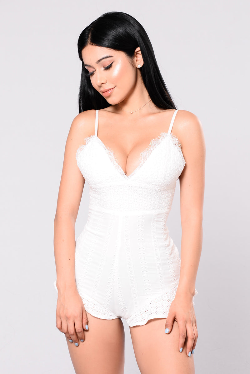 No Stigma Romper - White