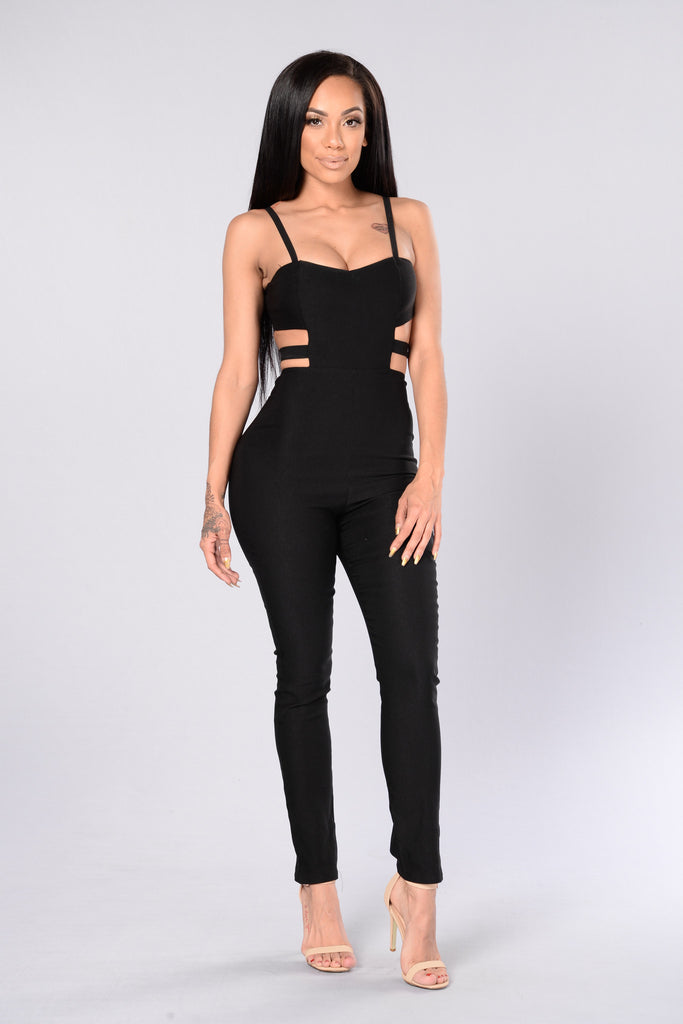 Out Of Town Jumpsuit - Black