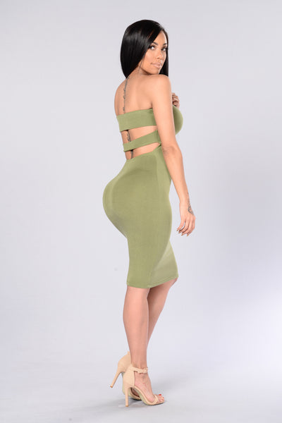 Squeeze Me Tube Dress - Sage