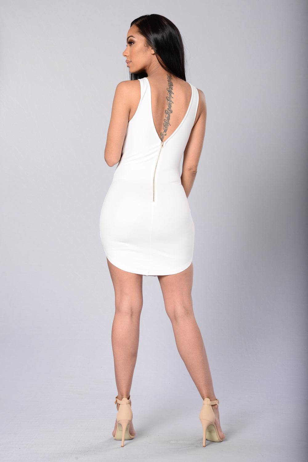 Front And Center Dress - White