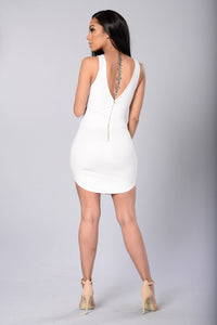 Front And Center Dress - White Angle 3
