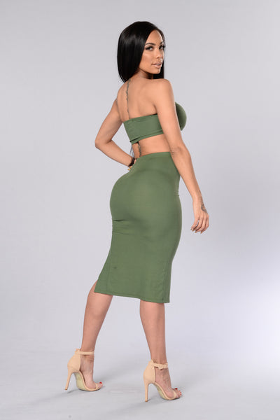 Twisty Skirt - Olive