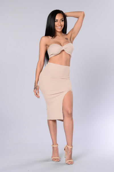 Twisty Skirt - Taupe