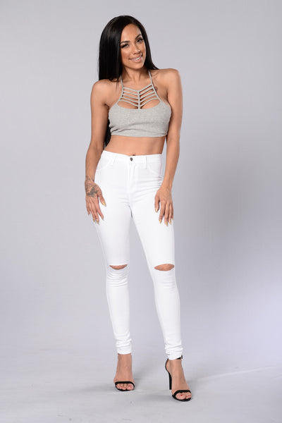 Culprit Top - Heather Grey