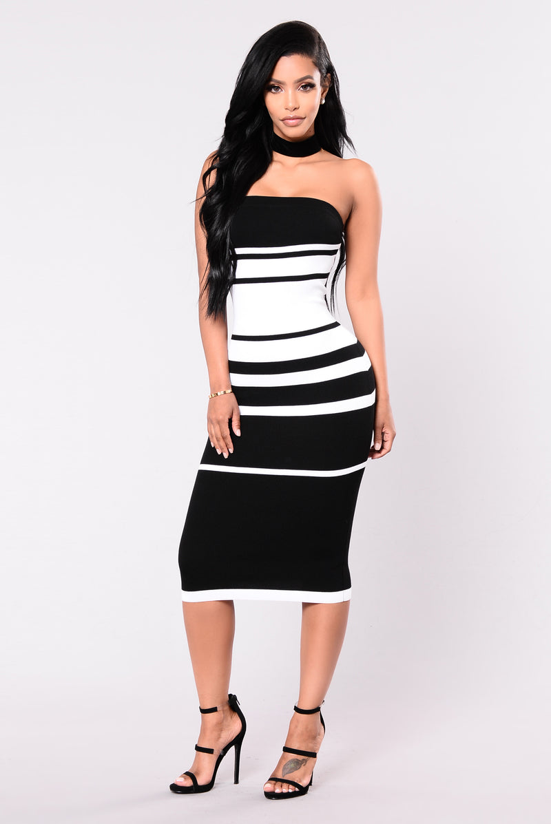 Stripe My Dress - Black/White