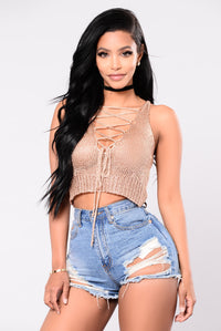 Will You Love Me Tomorrow Crop Top - Rose Gold