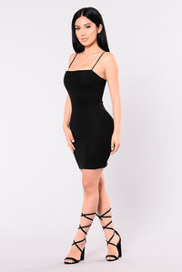 Vivid Blossom Body Sculpting Dress - Black