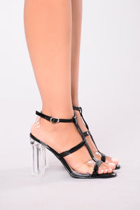 Almost Clear II Heel - Black