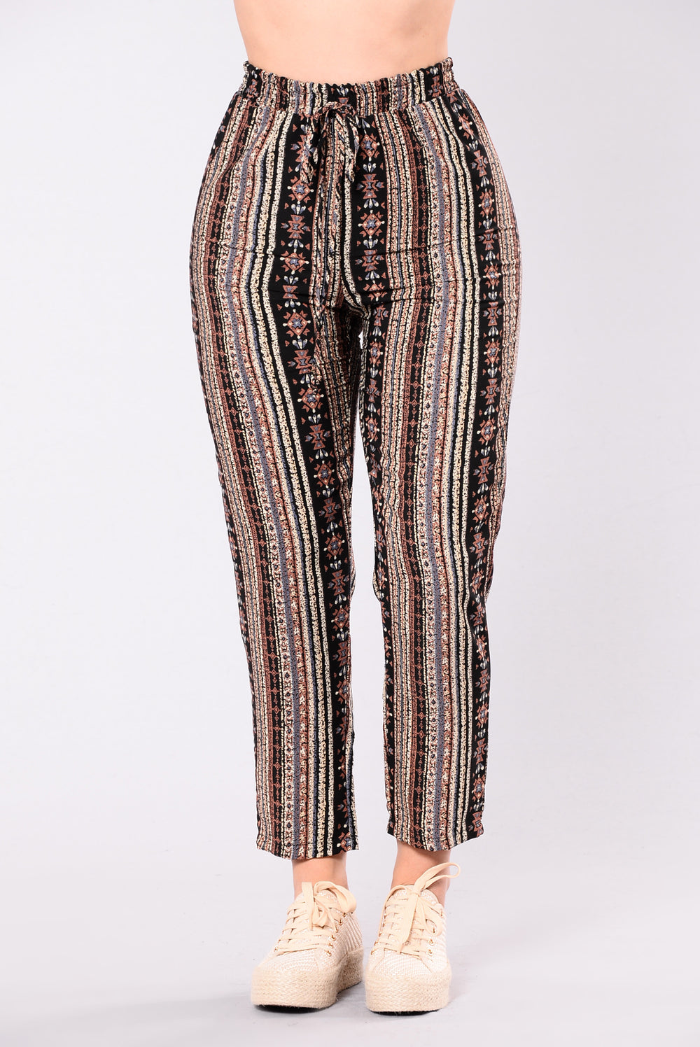 Tiki Torch Pants - Black/Brown
