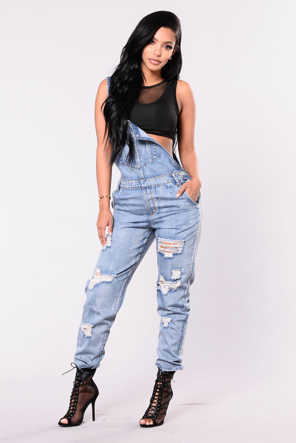 17300b2e075 This Must Be It Overalls - Denim