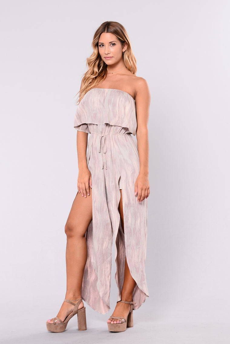 Honey Bunches Tie Dye Jumpsuit - Mauve