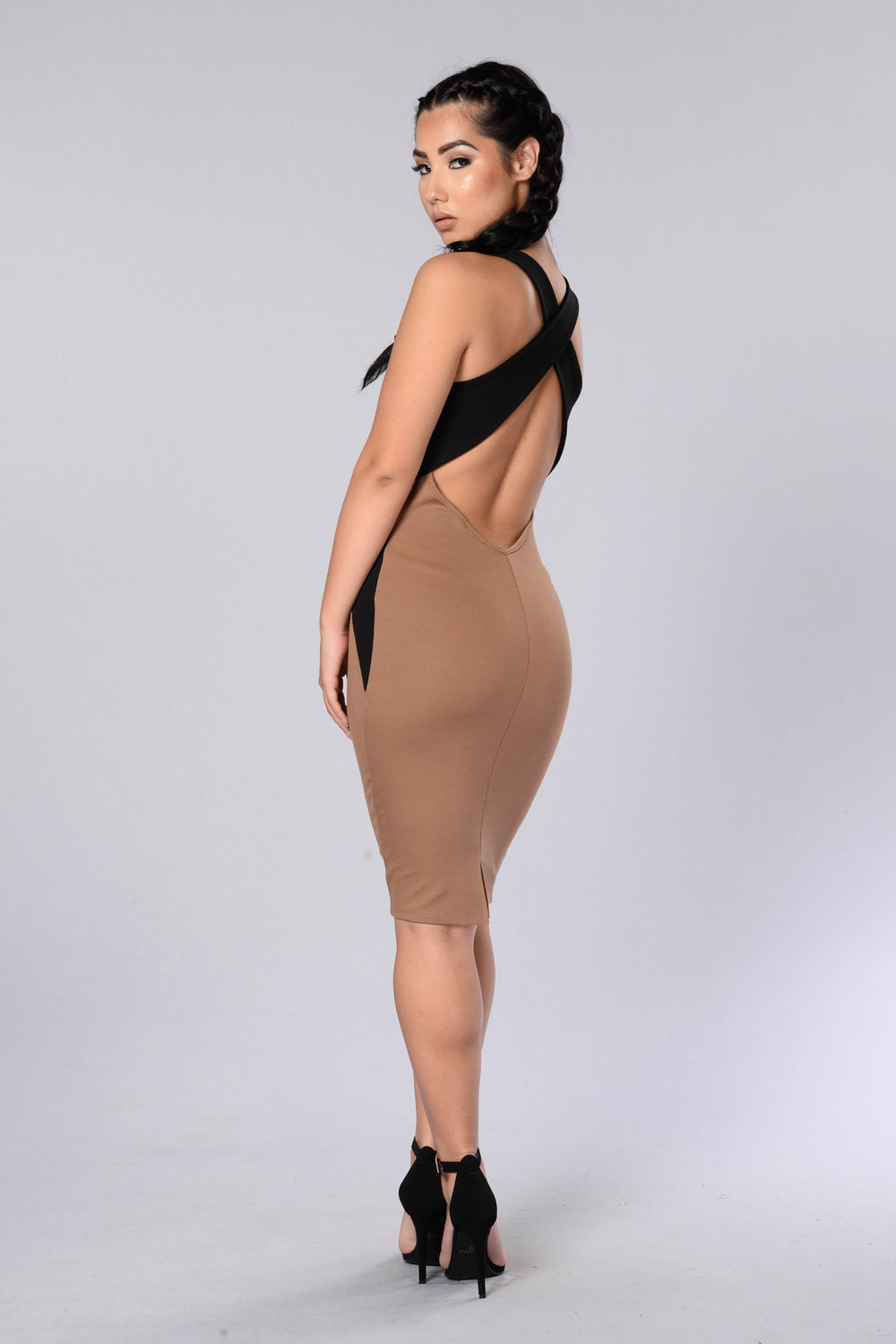 Sahara Desert  Dress - Ivory/Camel