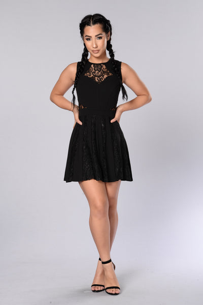 Beautiful Night Dress - Black