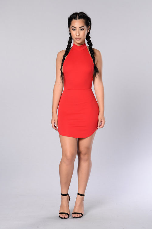 Back At It Dress - Red