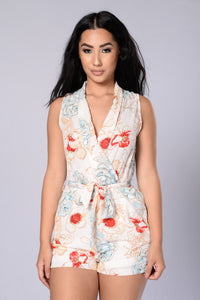 Pretty Bouquet Romper - Ivory Angle 1