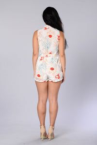Pretty Bouquet Romper - Ivory Angle 5
