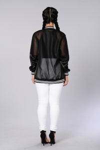 Big Poppa Bomber Jacket - Black