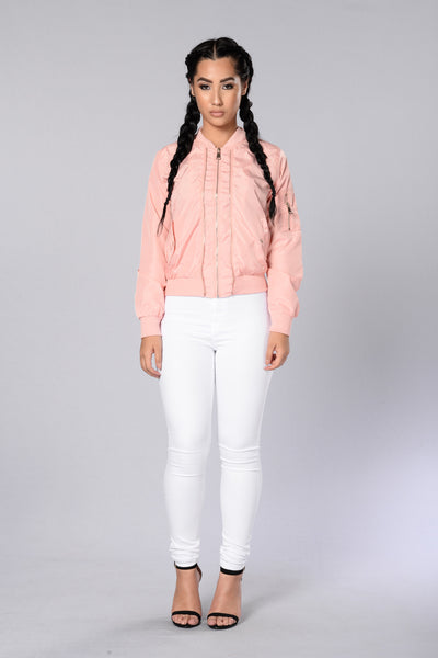 Two Timer Bomber Jacket - Pink