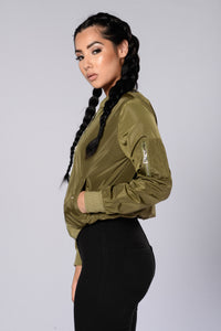 Two Timer Bomber Jacket - Olive Angle 3