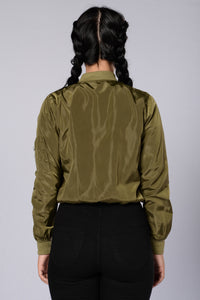 Two Timer Bomber Jacket - Olive Angle 2