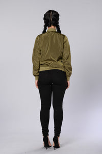 Two Timer Bomber Jacket - Olive Angle 7