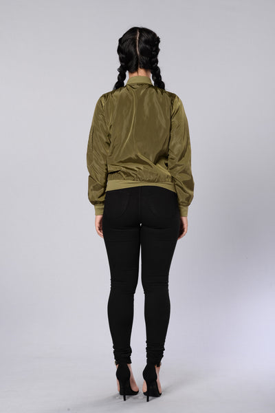 Two Timer Bomber Jacket - Olive