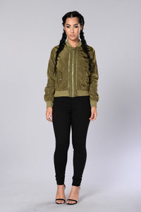 Two Timer Bomber Jacket - Olive Angle 5