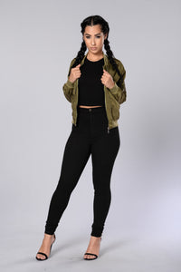 Two Timer Bomber Jacket - Olive Angle 4