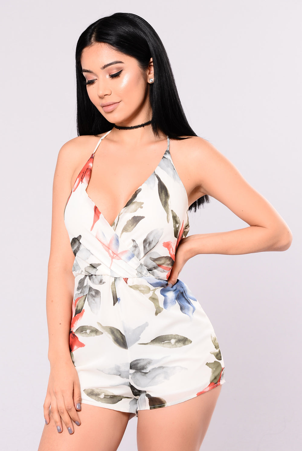 Worth A Million Miles Romper - Ivory