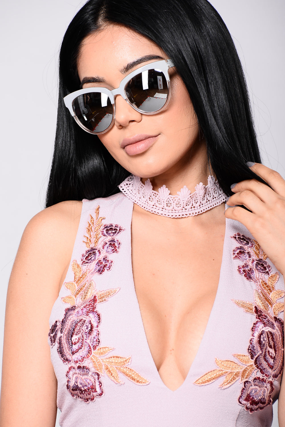 Julie Sunglasses - Clear/Grey