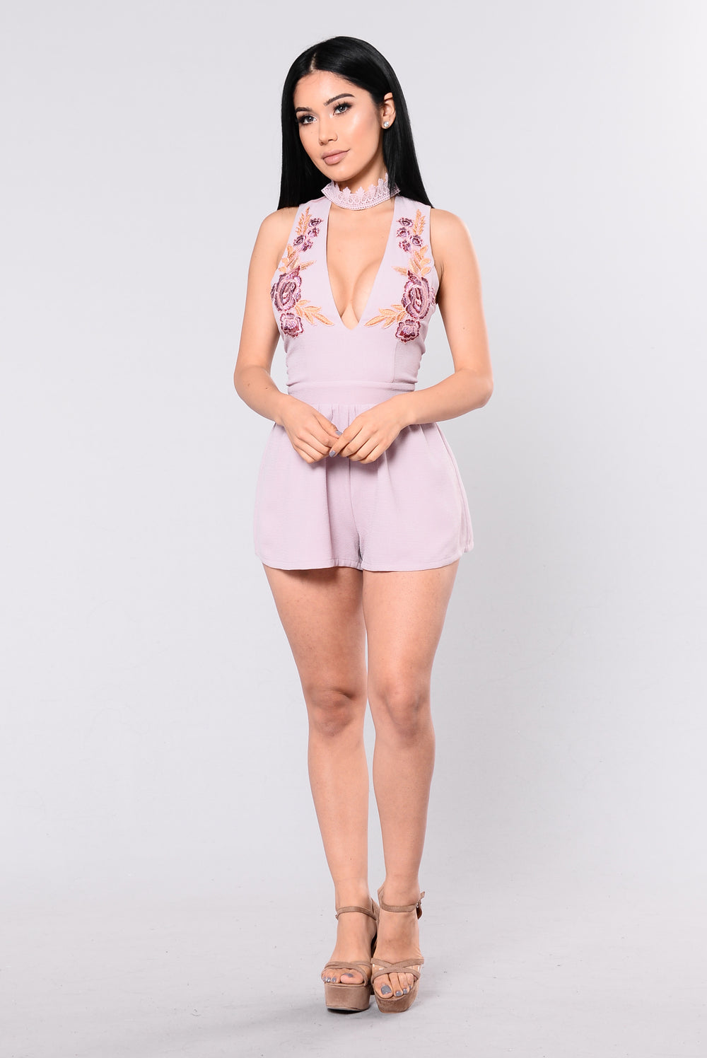 You Can Get It Romper - Lavender
