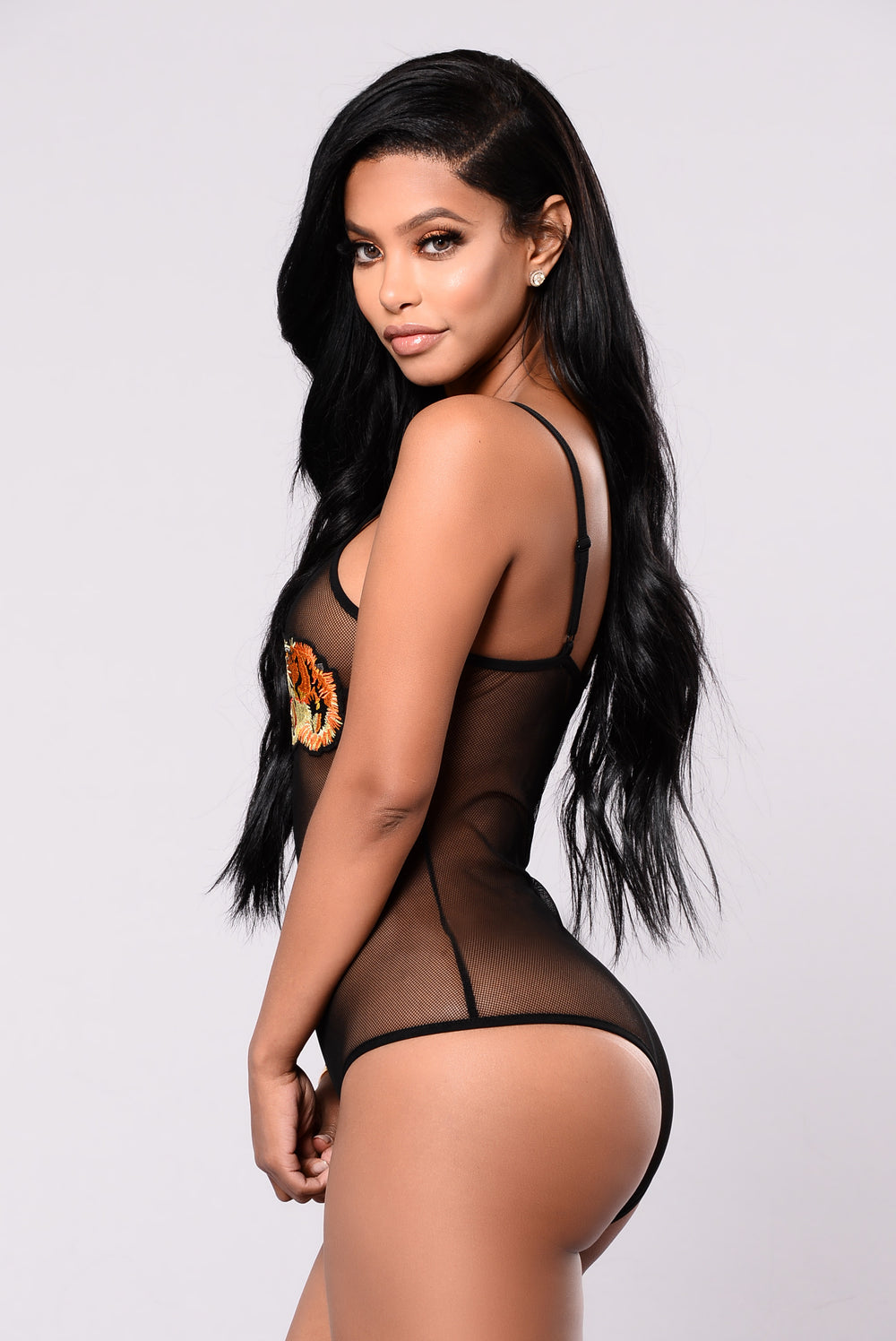 Eye Of The Tiger Bodysuit - Black