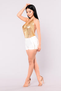 Disco Metal Top - Gold