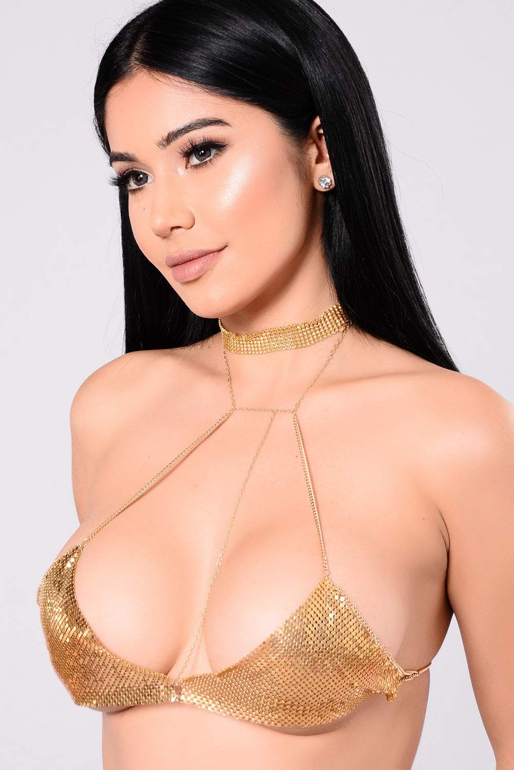 Princessa Metal Bra Chain - Gold