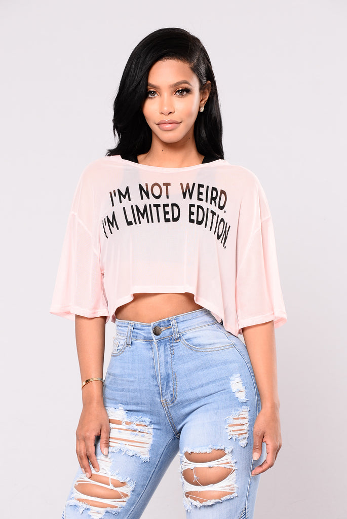 Weirdo Top - Dusty Rose/Black