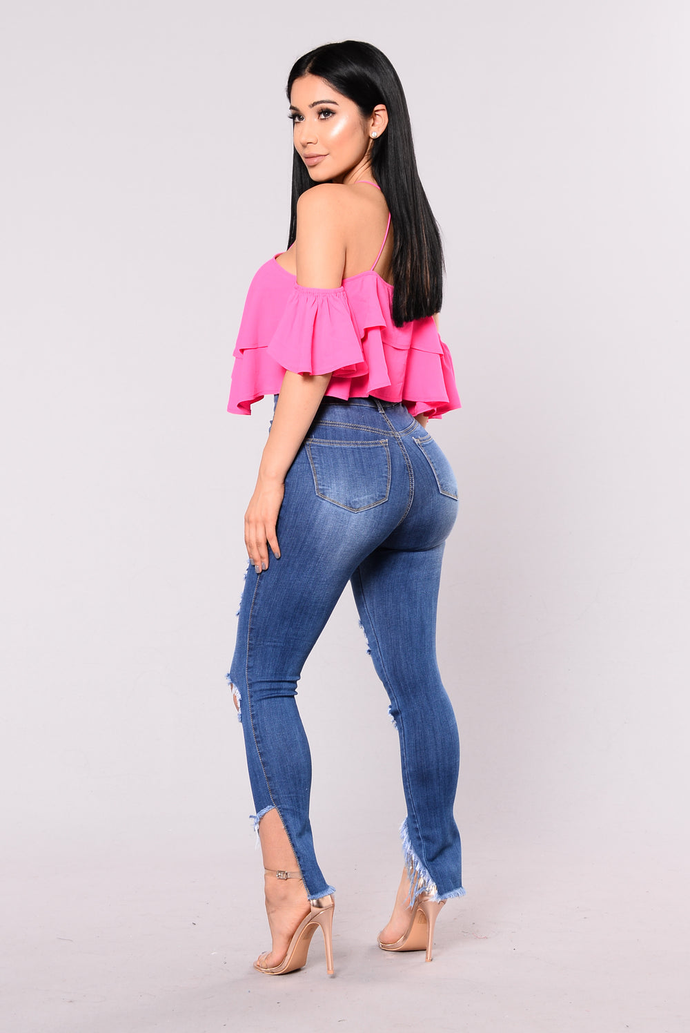 Spill The Tea Jeans - Medium Wash